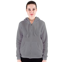 Color Grey Women s Zipper Hoodie