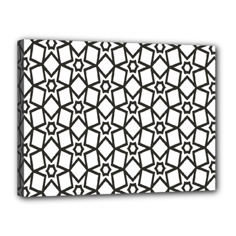 Coloring Squares Star Canvas 16  X 12  by Jojostore