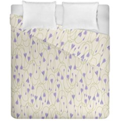 Flower Purple Duvet Cover Double Side (california King Size)