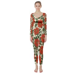 Flower Long Sleeve Catsuit