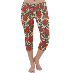 Flower Capri Yoga Leggings