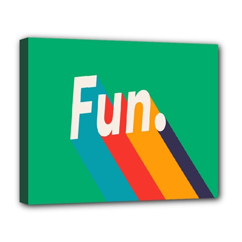 Fun Deluxe Canvas 20  X 16   by Jojostore