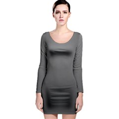 Gray Color Long Sleeve Bodycon Dress