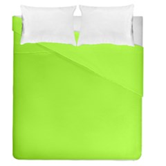 Green Color Duvet Cover Double Side (queen Size)