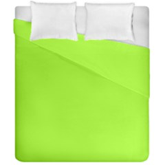 Green Color Duvet Cover Double Side (california King Size)