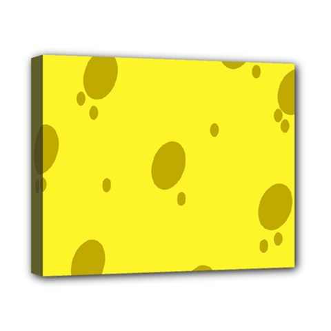 Hole Cheese Yellow Canvas 10  X 8