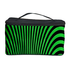 Green Optical Illusion Cosmetic Storage Case
