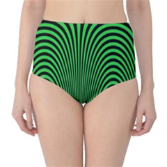 Green Optical Illusion High Waist Bikini Bottoms