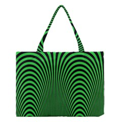 Green Optical Illusion Medium Tote Bag by Jojostore