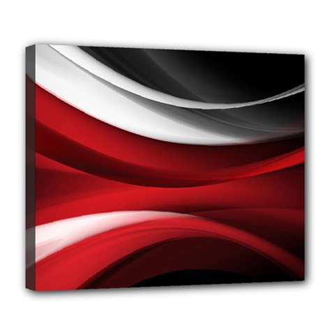Lines Red Deluxe Canvas 24  X 20   by Jojostore
