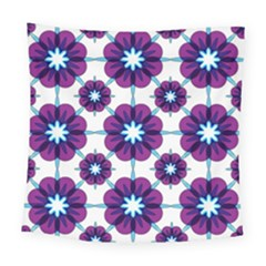 Link Scheme Analogous Purple Flower Square Tapestry (large) by Jojostore