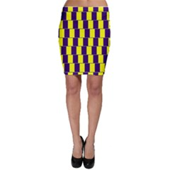 Preview Wallpaper Optical Illusion Stripes Lines Rectangle Bodycon Skirt by Jojostore