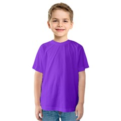Purple Color Kids  Sport Mesh Tee
