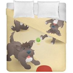 Puppy Dog Duvet Cover Double Side (california King Size)