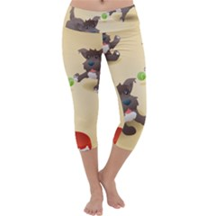 Puppy Dog Capri Yoga Leggings