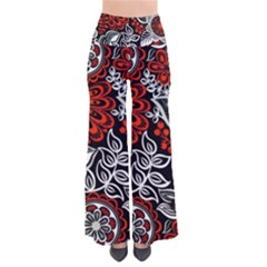 Red Batik Flower Pants