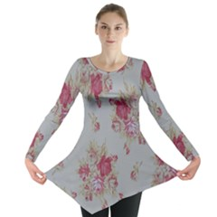 Rose Long Sleeve Tunic  by Jojostore