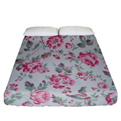 Rose Red Flower Fitted Sheet (california King Size) by Jojostore
