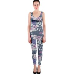 Simple Flower Onepiece Catsuit