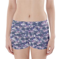 Simple Flower Boyleg Bikini Wrap Bottoms