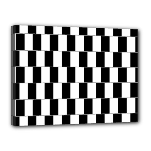 Wallpaper Line Black White Motion Optical Illusion Canvas 16  X 12
