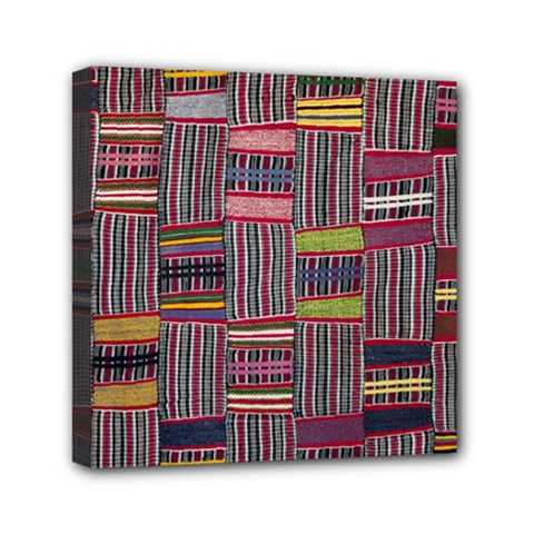 Strip Woven Cloth Color Mini Canvas 6  X 6  by Jojostore