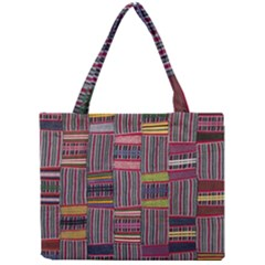Strip Woven Cloth Color Mini Tote Bag
