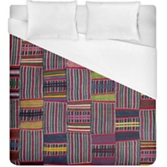Strip Woven Cloth Color Duvet Cover (king Size) by Jojostore