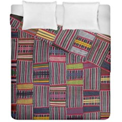 Strip Woven Cloth Color Duvet Cover Double Side (california King Size) by Jojostore