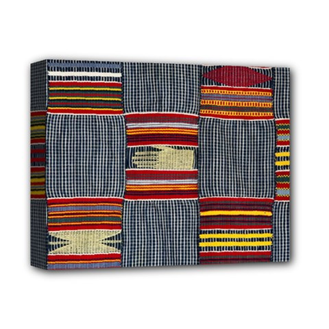 Strip Woven Cloth Deluxe Canvas 14  X 11  by Jojostore