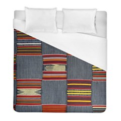 Strip Woven Cloth Duvet Cover (full/ Double Size) by Jojostore