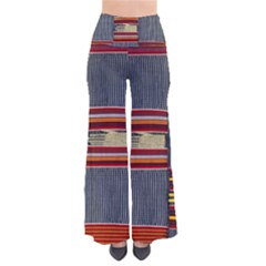 Strip Woven Cloth Pants