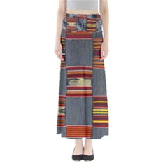 Strip Woven Cloth Maxi Skirts