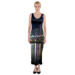 Cleveland Building City By Night Fitted Maxi Dress