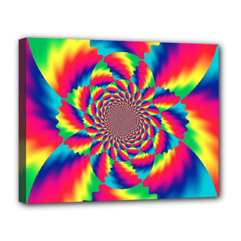 Colorful Psychedelic Art Background Canvas 14  X 11  by Amaryn4rt