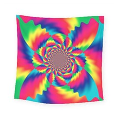 Colorful Psychedelic Art Background Square Tapestry (small)