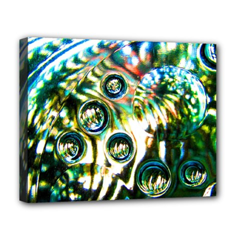 Dark Abstract Bubbles Deluxe Canvas 20  X 16   by Amaryn4rt