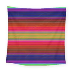 Fiesta Stripe Colorful Neon Background Square Tapestry (large)