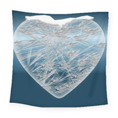 Frozen Heart Square Tapestry (large) by Amaryn4rt