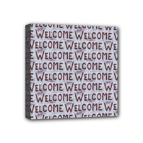 Welcome Letters Pattern Mini Canvas 4  X 4  by dflcprints