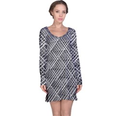 Grid Wire Mesh Stainless Rods Rods Raster Long Sleeve Nightdress by Amaryn4rt
