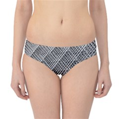 Grid Wire Mesh Stainless Rods Rods Raster Hipster Bikini Bottoms by Amaryn4rt