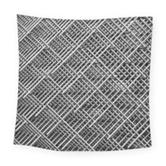 Grid Wire Mesh Stainless Rods Rods Raster Square Tapestry (large)