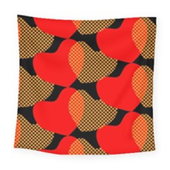 Heart Pattern Square Tapestry (large)