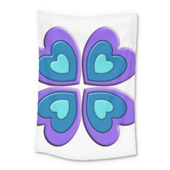 Light Blue Heart Images Small Tapestry by Amaryn4rt