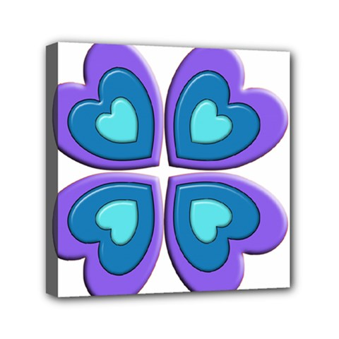 Light Blue Heart Images Mini Canvas 6  X 6  by Amaryn4rt