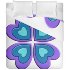Light Blue Heart Images Duvet Cover Double Side (california King Size) by Amaryn4rt