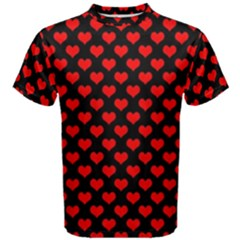 Love Pattern Hearts Background Men s Cotton Tee