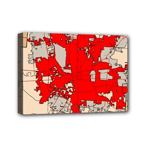 Map Of Franklin County Ohio Highlighting Columbus Mini Canvas 7  X 5  by Amaryn4rt