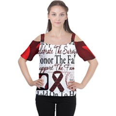 Sickle Cell Is Me Women s Cutout Shoulder Tee